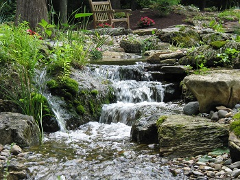 Garden Design Garden Design With Backyard Waterfall Ideas Back - Backyard waterfalls ideas